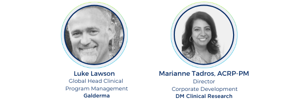 Covid 19 webinar panelists trial interactive transperfect galderma clinical research DM